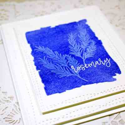 Quick & Easy Faux UV Printed Card