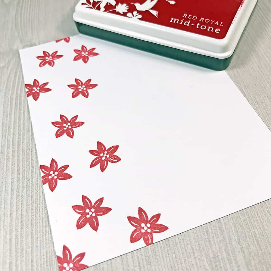 Pretty Poinsettias for the Merry Little Christmas Challenge Blog