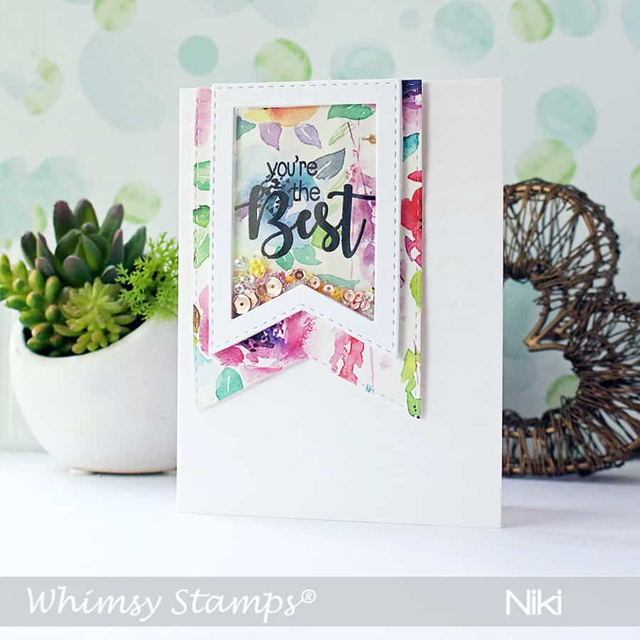 Clean & Simple Banner Shaker Card with Patterned Paper
