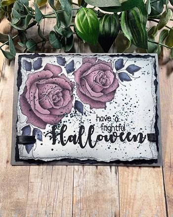 Deep Purple Halloween Roses + Copic Coloring