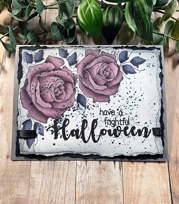 Deep Purple Halloween Roses + Copic Coloring