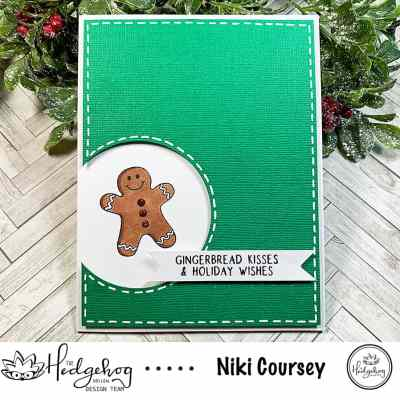 Gingerbread Kisses & Holiday Wishes Card