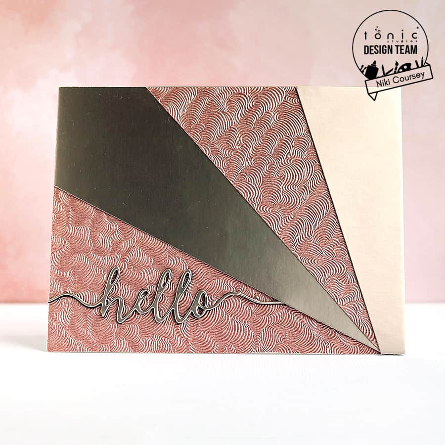 Rose Gold Hello with Craft Perfect Papers