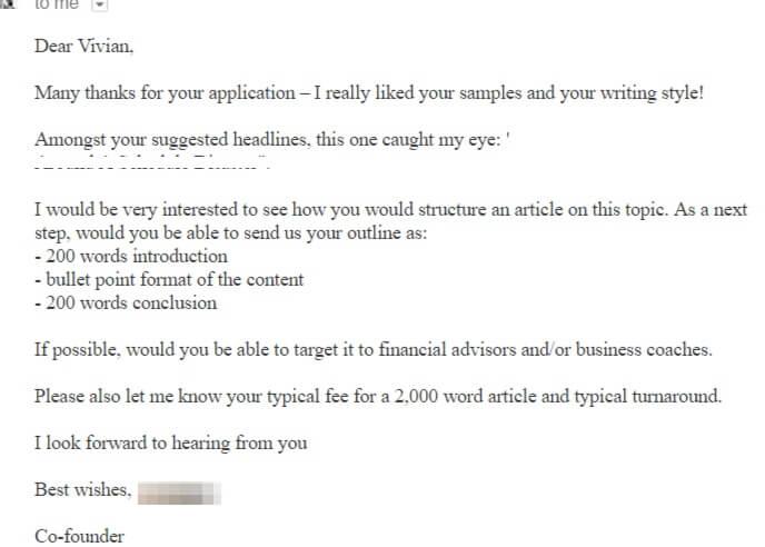 My first freelance writing job