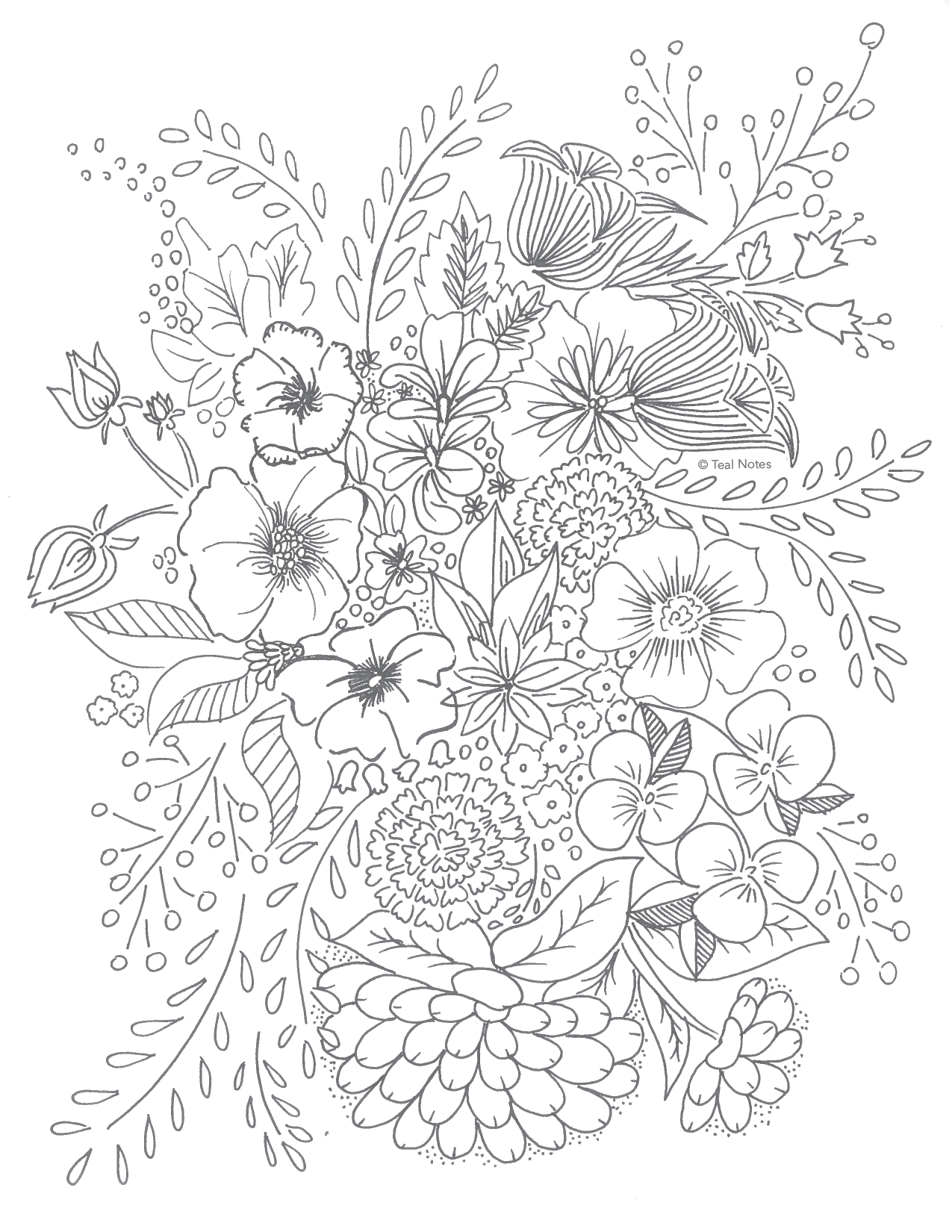 image regarding Free Printable Flower Coloring Pages named No cost Printable Coloring Web pages: 10 Refreshing Printable Coloring In direction of