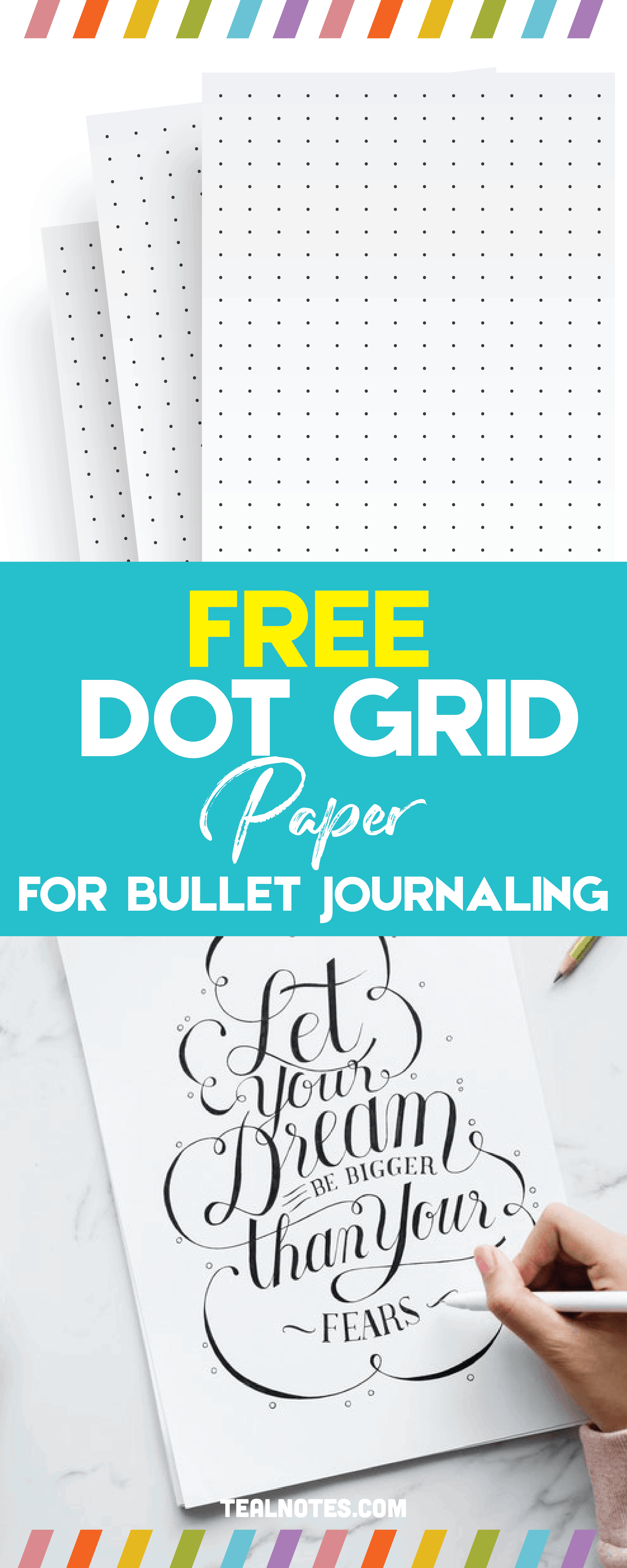 graphic relating to Bullet Journal Paper Printable named Cost-free Printable Dot Grid Paper For Bullet Publications And Notes