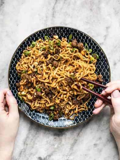 quick dinner ideas, Pork-and-Peanut-Dragon-Noodles-eat-2