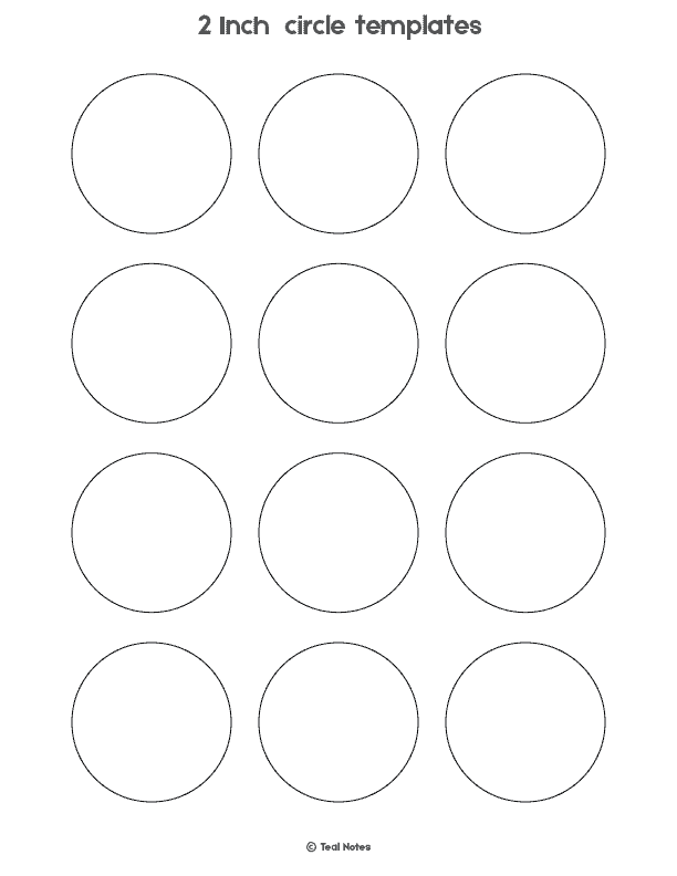 graphic regarding 2 Inch Circle Template Printable titled Circle Template: Free of charge Printable Circle Templates For Your