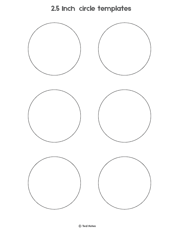 Circle Template: Free Printable Circle Templates For Your