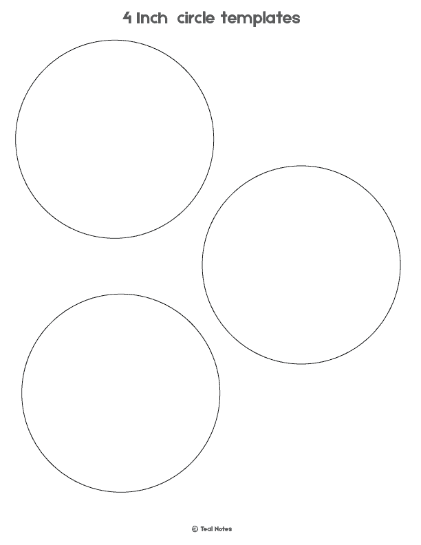 4 inch circle template