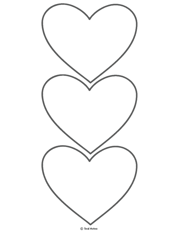 picture relating to Free Printable Heart Template titled Centre Template: Free of charge Printable Middle Lower Out Stencils And