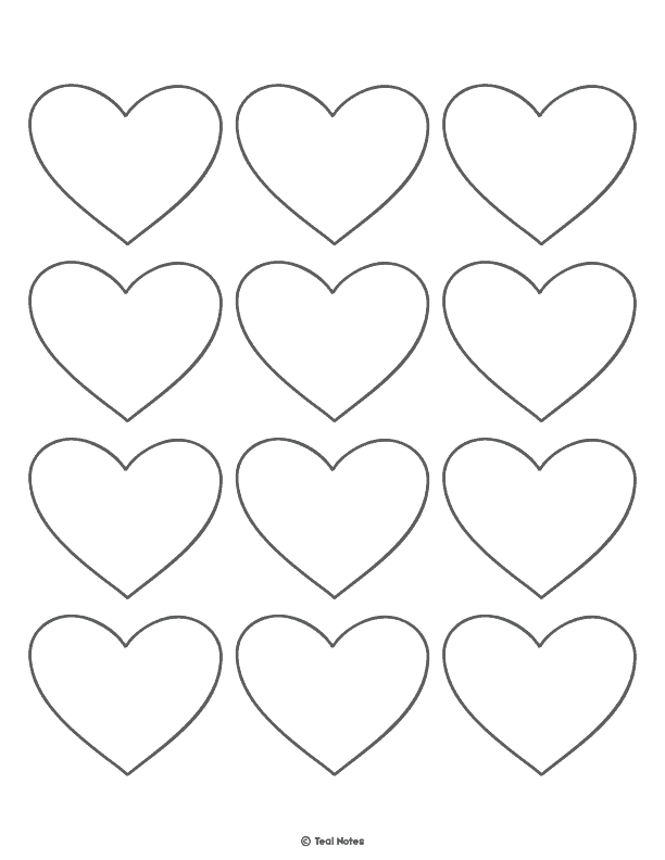 graphic about Printable Hearts Template named Center Template: No cost Printable Middle Slice Out Stencils And
