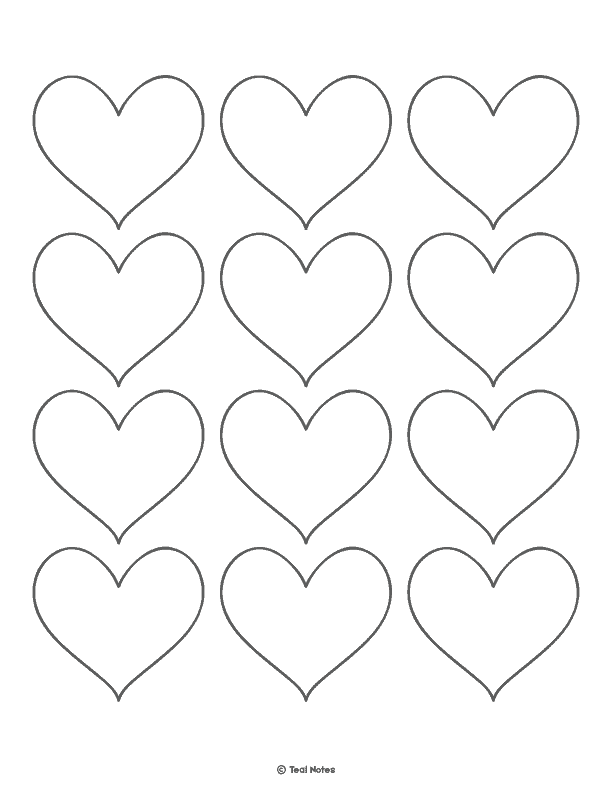 image about Free Printable Heart Template identify Center Template: Totally free Printable Center Reduce Out Stencils And