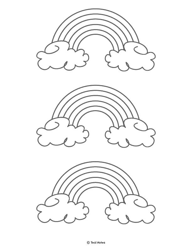 photo regarding Printable Rainbow named Rainbow Template: No cost Printable Rainbow Determine and Rainbow