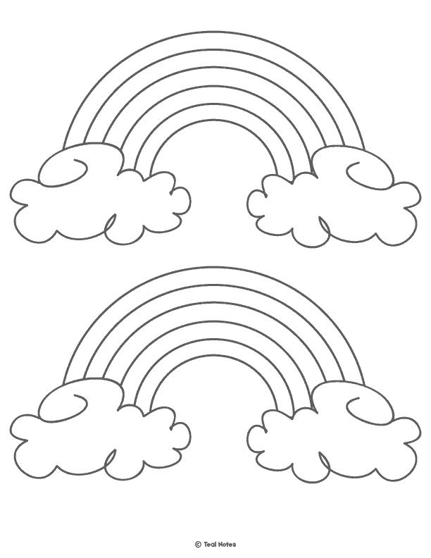 photo regarding Rainbow Printable called Rainbow Template: No cost Printable Rainbow Determine and Rainbow