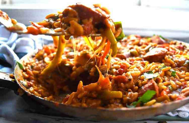 Cheesy Orzo: One Pan Orzo With Sausage And Peppers, healthy orzo recipes