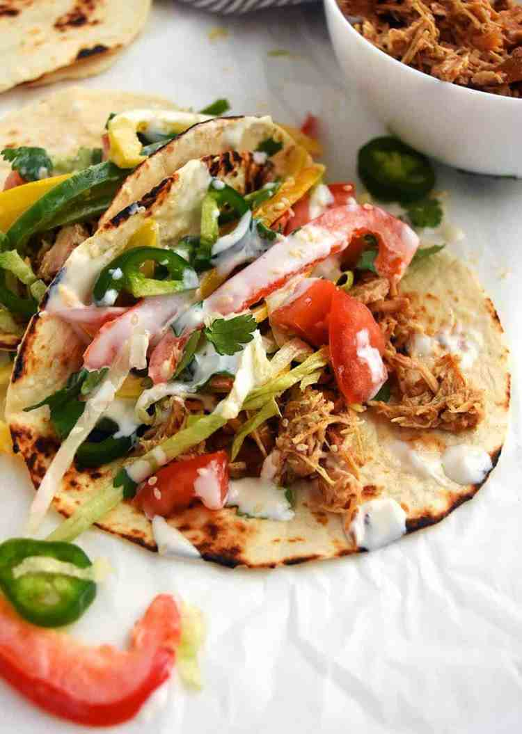Pork Carnitas Tacos are Slow Cooker Pork Tacos that are easy to make