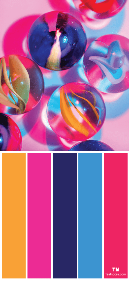 bright color combinations to use for design