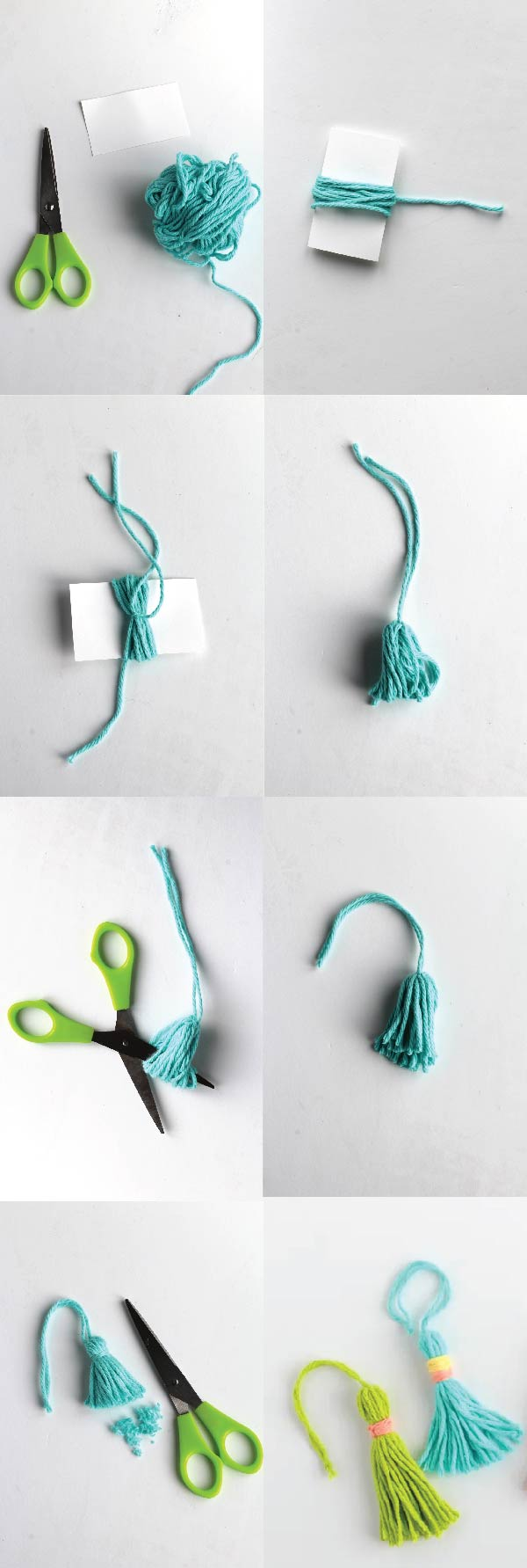 how to make a yarn tassel DIY