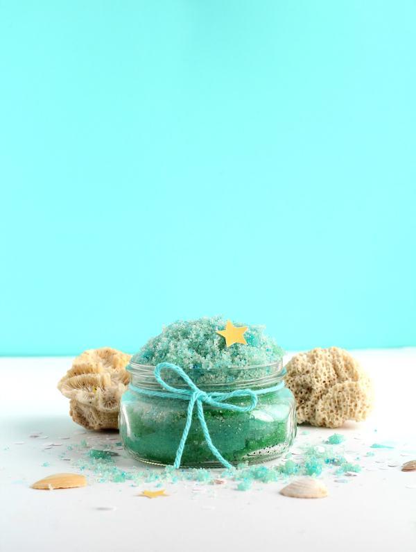 Mermaid sugar scrub