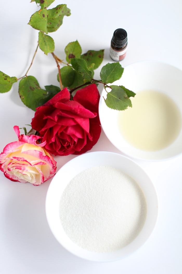 rose sugar scrub ingredients and directions