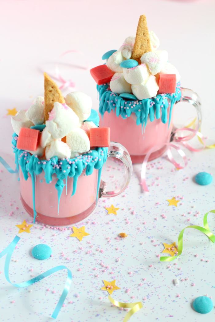 Unicorn hot chocolate | How to make homemade unicorn hot chocolate recipe