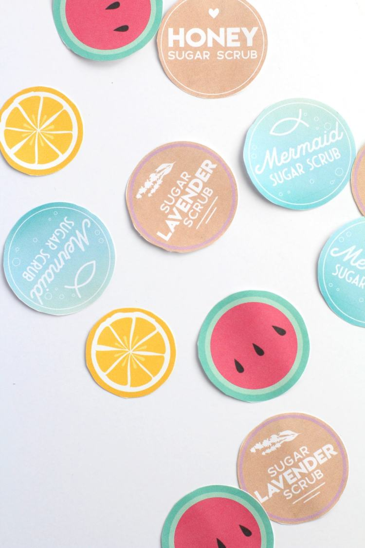 free printable sugar scrub labels