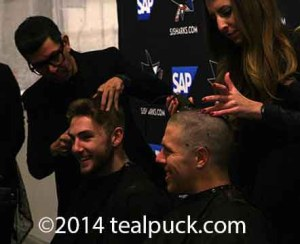 Goodrow and Pavelski  getting shorn