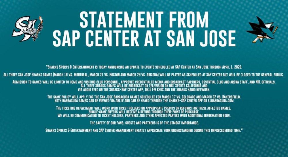SAP Center Statement