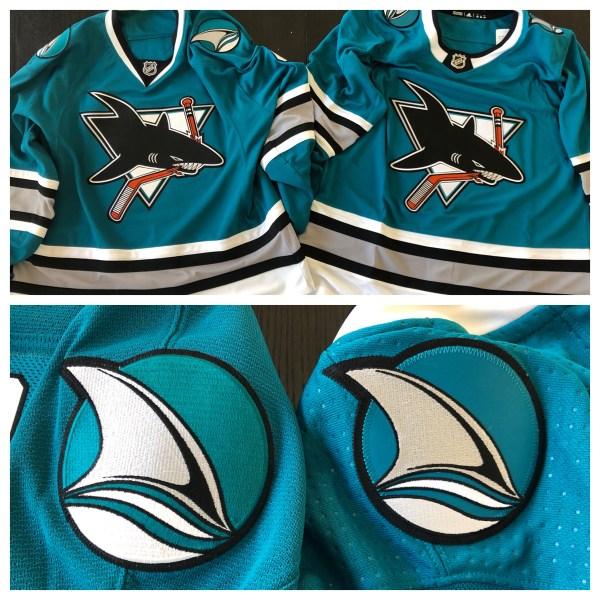 25th vs 30th Anniversary San Jose Sharks jerseys