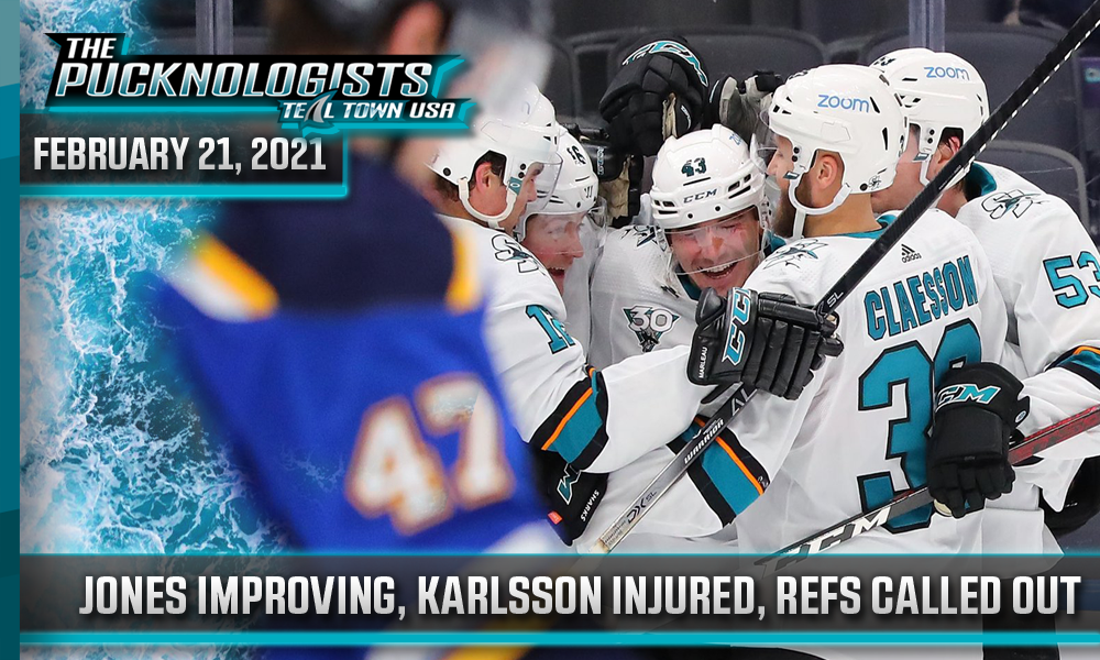 Jones Improving, Karlsson Injured, Refs Called Out - The Pucknologists 121
