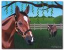 Custom horse painting on canvas
