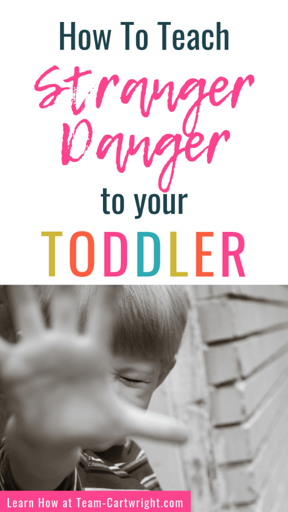 How To Teach Stranger Danger to your Toddler with picture of toddler saying no