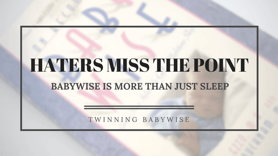 BFBN Week:More than just a sleep system and How to babywise with multiple kids