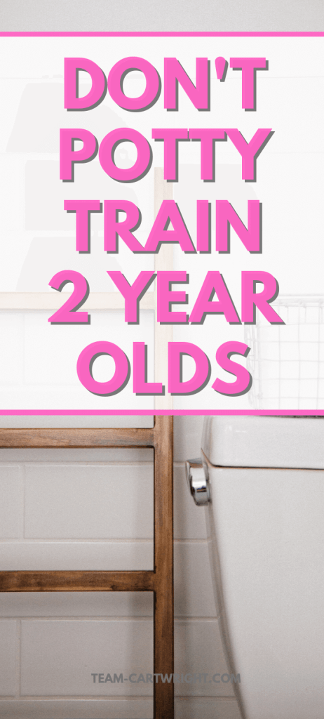 Benefits of late potty training