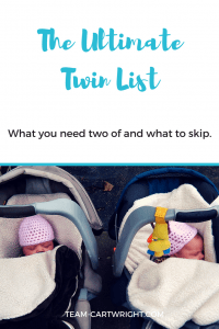 Are you a twin mom to be? Feeling a bit lost one what you actually need two of and what you can skip? I have the ultimate list of what you need, and it is all on a budget.
