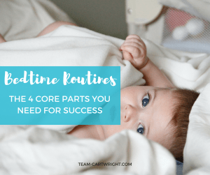 A solid bedtime routine doesn't have to take hours. There are four main components you need to build a bedtime routine you can take anywhere. Bedtime Routines | Toddler Sleep | Baby Sleep | Kid Sleep #baby #toddler #preschool #bedtime #routine #sleep #hygiene Team-Cartwright.com
