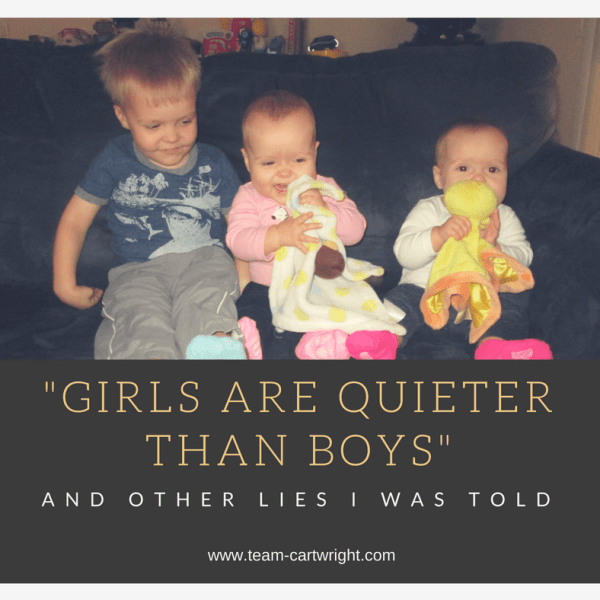 """Girls are quieter than boys"" and other lies I was told"