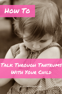 Looking for a way to turn tantrums into a learning opportunity? Here is how to handle talk through big feelings and diffuse tantrums peacefully. Tantrums | Feelings with kids | Handle Tantrums | Toddler Tantrums | Preschool Feelings #tantrums #toddler #preschooler #feelings #kids #positive #peaceful #parenting Team-Cartwright.com