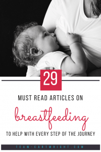 Breastfeeding can be beautiful but it can be tough too. Here is a resource with information to help you with every step of the journey. #breastfeeding #tips #pumping #mastitis #newborn #baby #twins #supply #schedule #latch #formula Team-Cartwright.com
