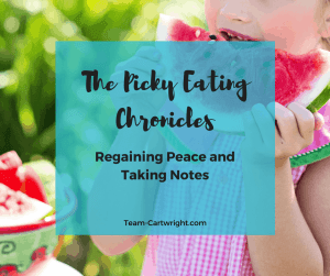How to end picky eating and get peace at the table again. Taking notes on your child's eating to find the good habits to build on.