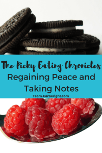 How to battle picky eating by finding peace at the table and taking note of current habits.