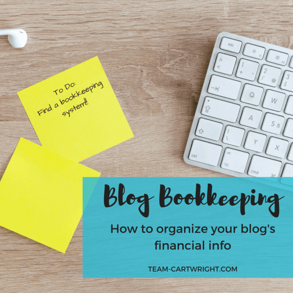 How to organize your blog bookkeeping