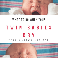 What To Do When Your Twin Babies Cry at the Same Time (And You're All Alone)