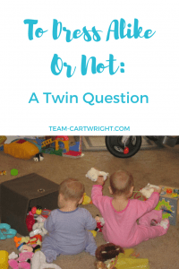 Should you dress your baby twins alike? The pros and cons of identical clothing.