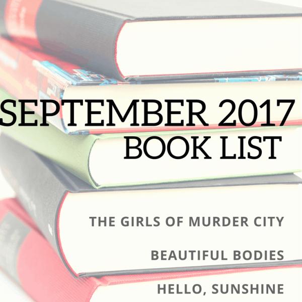 September 2017 Book List