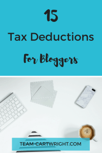 Are you a blogger trying to figure out this whole tax thing? Are you wondering how to help run your blog like a small business? I have 15 tax deductions for bloggers to help you out.
