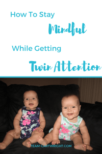 Twins get a lot of attention, and that can be tough. Here is how to stay mindful while getting twin attention. #Twins