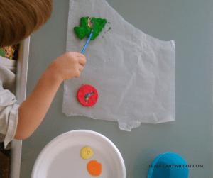 How to make milk and vinegar plastic ornaments.