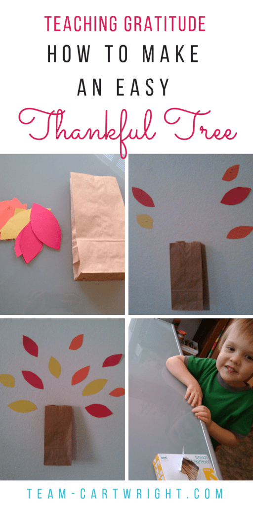How to make a Thanksgiving thankful tree, and easy and fun family tradition. #thanksgiving #thanksgivingtradition #thankfulness #gratitude #kids #toddler #preschooler #familytradition #teachthankfulness Team-Cartwright.com